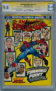 Amazing Spider-man #121 CGC 9.4 Signature Series Signed x3 Stan Lee Death Gwen Stacy Marvel comic